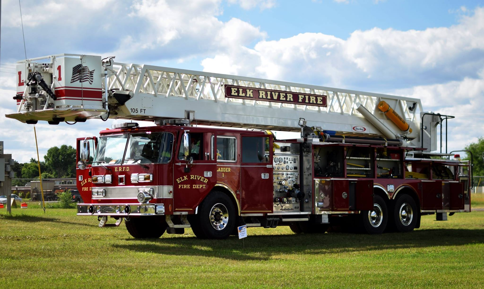 United Way visit - Ladder Truck