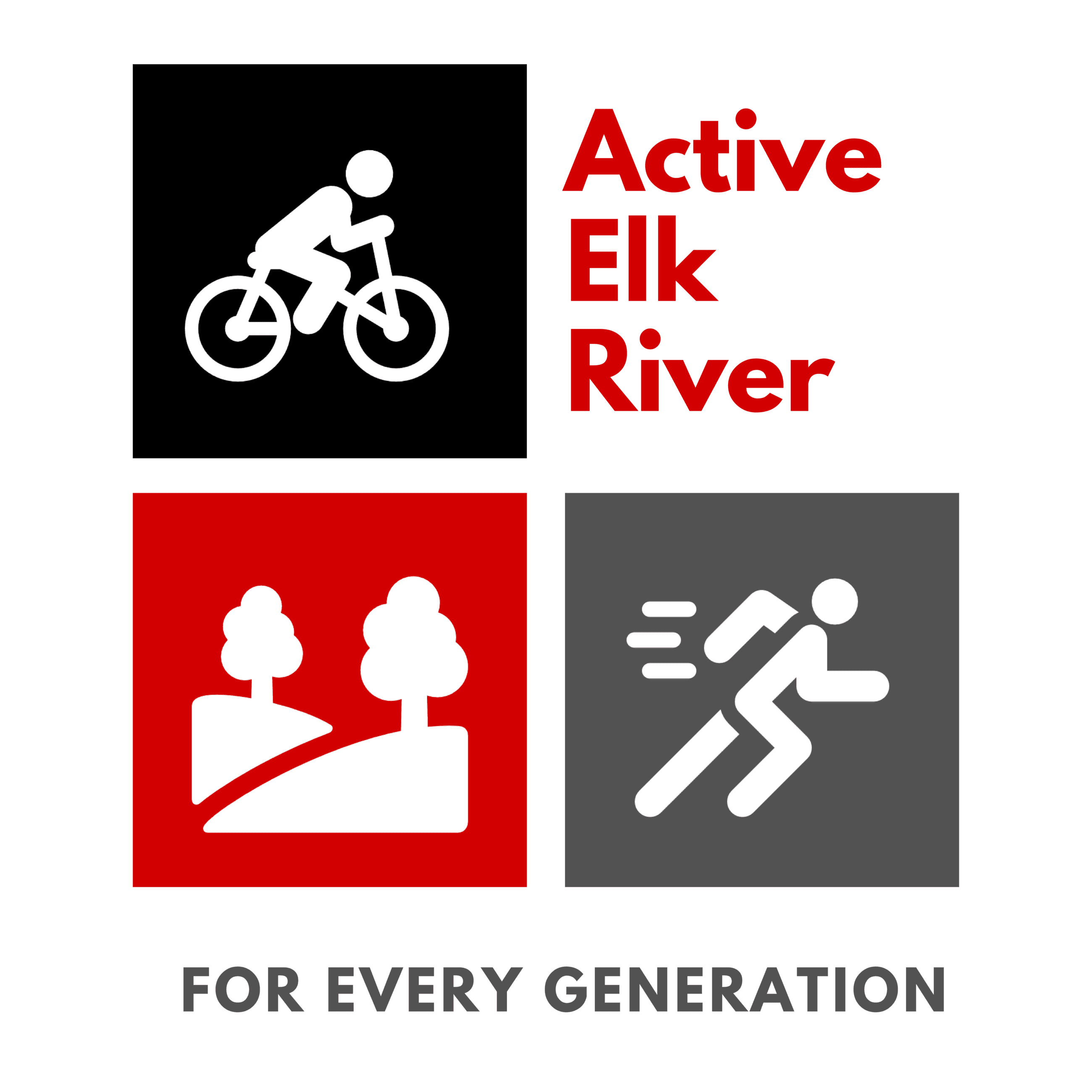 Active Elk River - Square Primary Logo