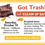 2020 Fall Clean Up Day - October 10